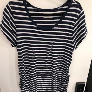 Maternity cap sleeve T-shirt dress